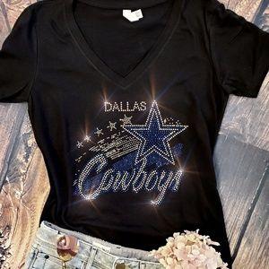 New Dallas Cowboys V-Neck T-shirt all sizes